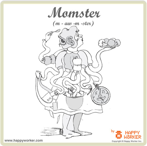 Momster - Mom monster is always on the hugging prowl
