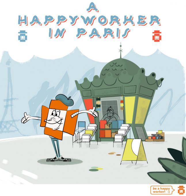 A Happy Worker in Paris