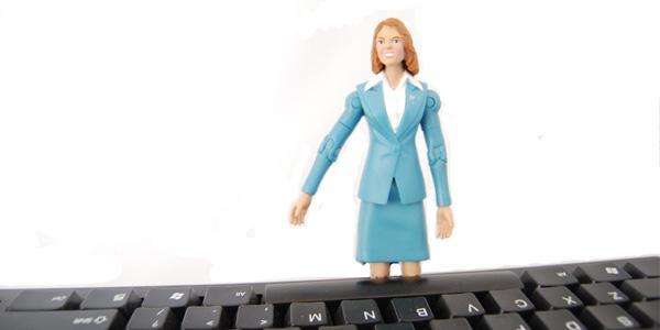 geek mom at keyboard