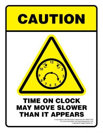 Time on Clock office sign