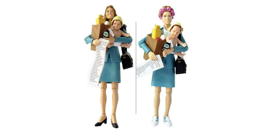 Mom Action Figure by Toy Company Happy Worker
