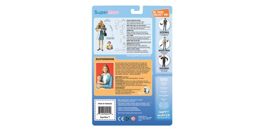 SuperMom Action Figure Package