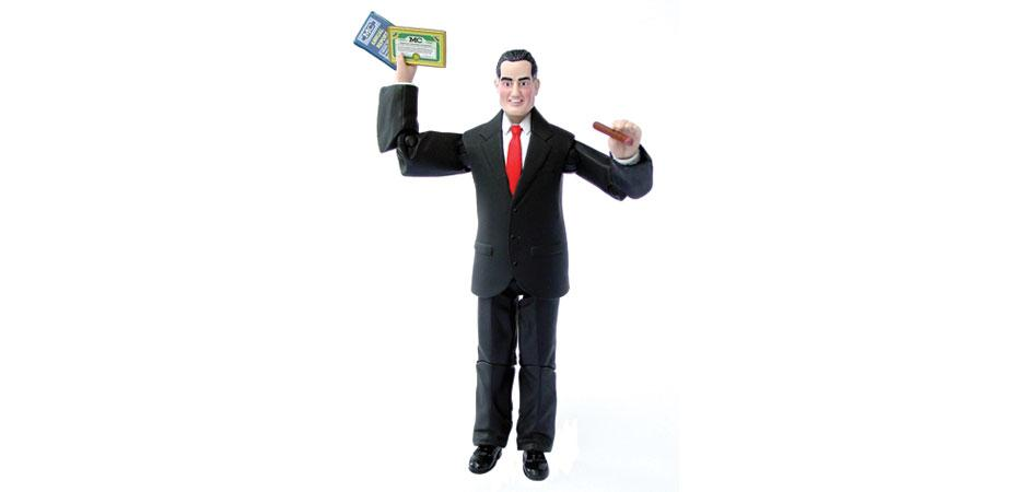 BossMan Action Figure with Annual Report and Stock Certificate