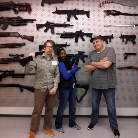 Happy Worker Kris visits Sony Playstation's Prop Room