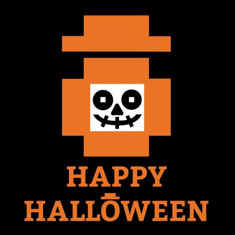 Happy Worker Halloween Logo