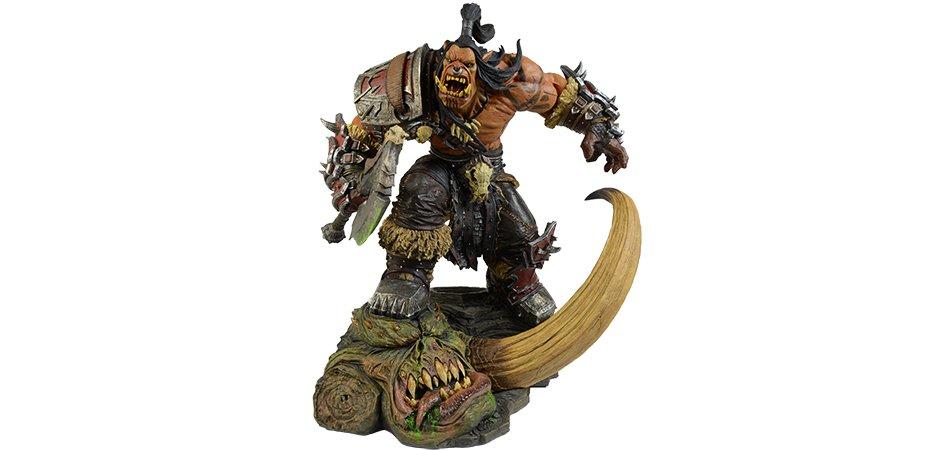 Grommash Hellscream Statue Blizzard World of Warcraft
