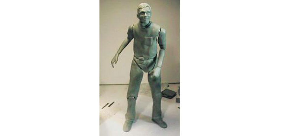 GeekMan Action Figure Sculpture Prototype