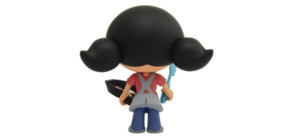 Nom Nom Paleo Custom Toy by Toymaker Happy Worker
