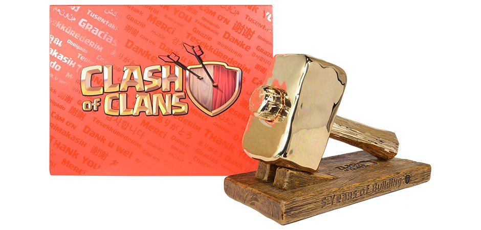 Supercell Clash of Clans 5th Anniversary Hammer Package