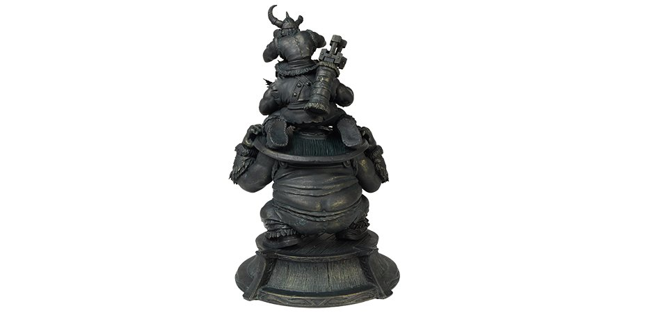 The Lost Vikings Statue by Blizzard (back)