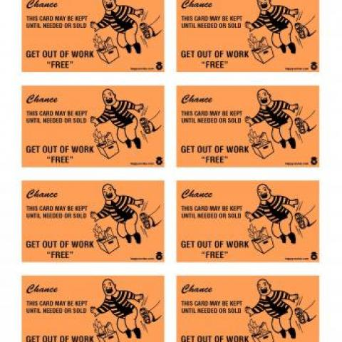 Get out of work free monopoly card for office